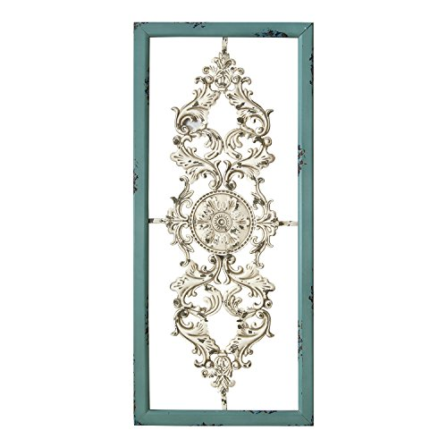 Stratton Home Decor SHD0121 Scroll Panel Wall Decor (Antique Metal Home Decor)