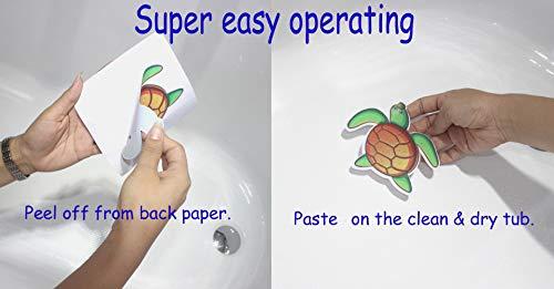 MIA GENOVIA Bath Tub Stickers Non Slip Adhesive Bathtub Decals Anti Slip Kids Shower Safety Sea Animals Decal Bathroom Accessories Sets (Pack of 10, Kids Friendly) by MIA GENOVIA (Image #7)