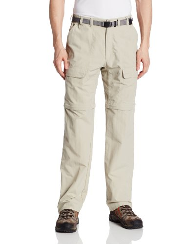 (White Sierra Men's Trail 34-Inch Inseam Convertible Pant, Medium, Stone)
