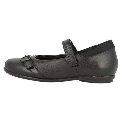 Clarks Tasha Bay Mädchenschule Junior Schuhe Schwarz