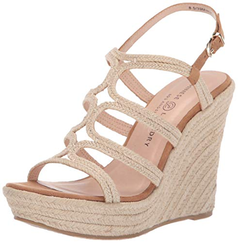 Chinese Laundry Women's Milla Espadrille Wedge Sandal, Natural, 8 M US