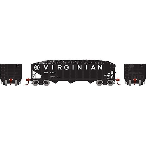 Athearn ATH70309 HO RTR 40' 3-Bay Ribbed Hopper w/Load, VGN - Hopper Side 3 Ribbed Bay