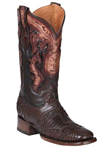 Old Mejico Western Boot Exotic Lizard Teju ID 301094 CS5N Cigar (9.5)