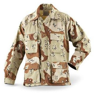 Military Issue 6 Color Desert Camouflage BDU Shirt/Jacket; Size Large Regular ()