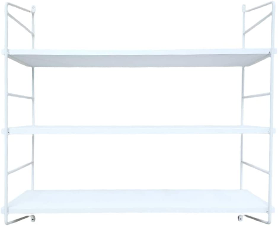 BOLUO White Wall Shelf Bathroom Floating Shelves Mounted Shelving Bedroom Bookcase 3 Tier 24 Inch (WS610-W)