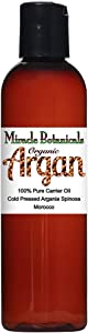 Miracle Botanicals Virgin Organic Argan Oil - 100% Pure Argania Spinosa - Therapeutic Grade - Morocco 4oz.