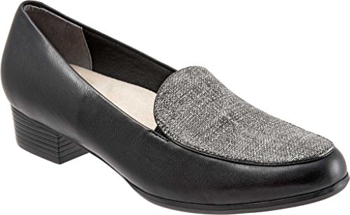 Dravers Vrouwen Monarch Slip-on Loafer Zwart / Zwart / Wit Linnen