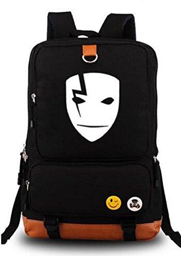 Darker Than Black Costume Mask (YOYOSHome Darker Than Black Anime Hei Mask Cosplay Luminous Bookbag Backpack School Bag)