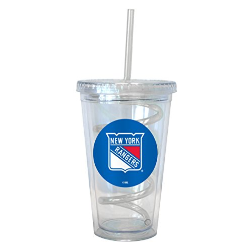 NHL New York Rangers Swirl Straw Tumbler, - Rangers Tumbler