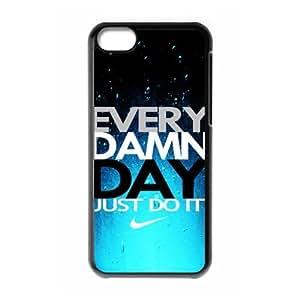 Hard Plastic Cover Case NIKE logo Just Do It iPhone 5C Case