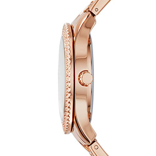 Fossil Es3590p Stella Multifunction Rose-Tone Stainless Steel Watch Watch For Women