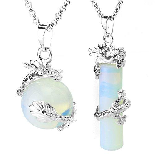 BEADNOVA Cylinder Gemstone Necklace Necklaces product image