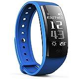 OUDEKAY Pulsera Actividad, IP67 impermeable Fitness Tracker Pulseras Fitness Inteligentes Pulsómetros/Podómetro/Monitor de Dormir/Monitor de Calorías/Llamada& SMS Alerta de iOS y Android