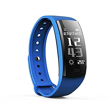 OUDEKAY Pulsera Actividad, IP67 impermeable Fitness Tracker Pulseras Fitness Inteligentes Pulsómetros/Podómetro/Monitor de Dormir/Monitor de ...