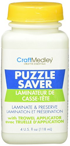 (Craft Medley GL600 Non-Toxic Puzzle Saver With Trowel Applicator , 4 Ounce)