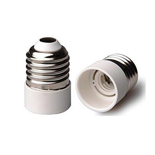 HiqLED UL-listed E26/E27 to E14 Adapter, Medium Screw (E26/E27 Edison Screw) to Candelabra Screw (E14) Base Socket Reducer Adapter Converter, Heat-resistant, Anti-burning, No Fire Hazard (3-Pack)