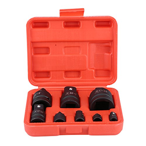 Impact Adapter and Reducer Set, 8Pcs Heavy Duty Impact drill and Drive Adapter 1/4