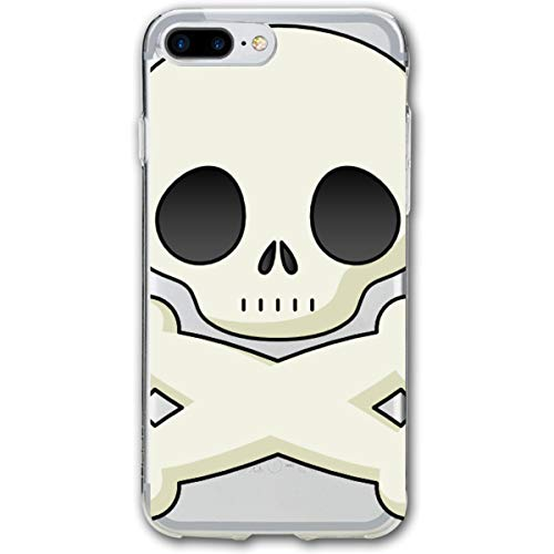 Halloween Skeleton Clipart Cute iPhone 8 Plus Case, iPhone 7 Plus Case, Ultra Thin Lightweight Cover Shell, Anti Scratch Durable, Shock Absorb Bumper Environmental Protection Case Cover -