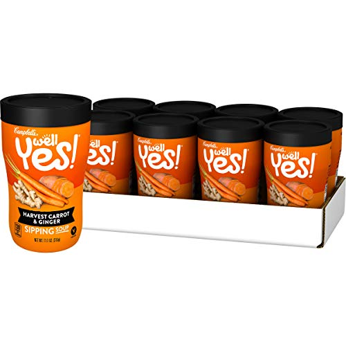 Campbell's Well Yes! Sipping Soup, Harvest Carrot & Ginger, 11.1 Ounce, Pack of 8