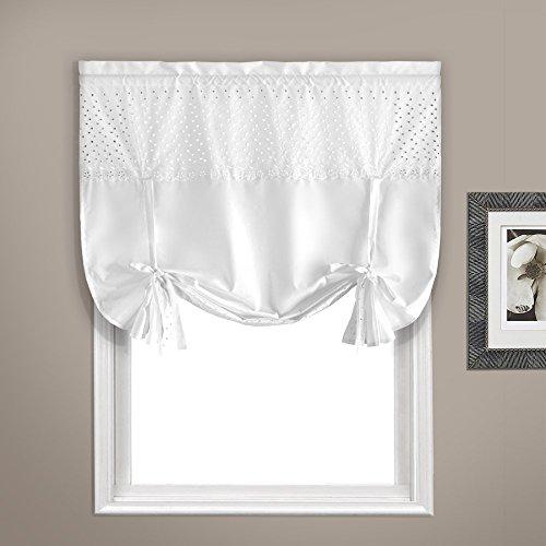 United Curtain VIENTIEWH Vienna Window Curtain Topper, 40″ X 63″, White