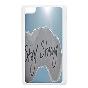 LSQDIY(R) Stay Strong iPod Touch 4 Cover Case, DIY iPod Touch 4 Case Stay Strong