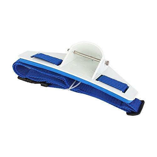liyhh Boat Fishing Deep Sea Gimbal Waist Belt Prop Belly Top Iron Rod Holder Tool - Blue