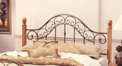 Hillsdale Furniture 310HFQR San Marco Headboard with Rails, Full/Queen, Brown Copper (Wood Panel Poster Bed)