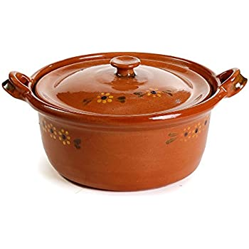 Ancient Cookware Mexican Clay Pot, Large, Terracotta