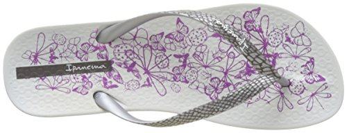 Fem Nature White Silver Ipanema Anat Tongs Femme Blanc wEYET5q7