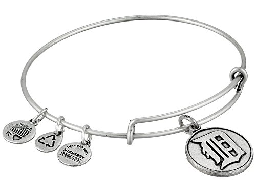 Detroit Tigers Logos - Alex and Ani Detroit Tigers Cap Logo Expandable Rafaelian Silver Bangle Bracelet