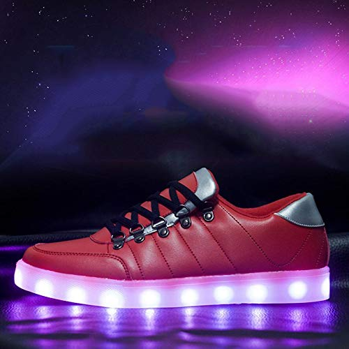 Men's and Women's Shoes Comfort LED Sneaker Trainers Shoes Leisure Shoes Fashion Breathable Shoes Christmas, Halloween, Ghost Step Dance Shoes (Color : A, Size : 39)