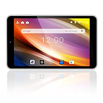 "Dragon Touch S8 8"" Intel Quad Core 64 bits Android Tablet, 1GB RAM 16GB Flash Google Android 5.1 Lollipop IPS Display 1280x800, Bluetooth 4.0, FM 10 Point Multi-Touch, Dual 2MP Camera"