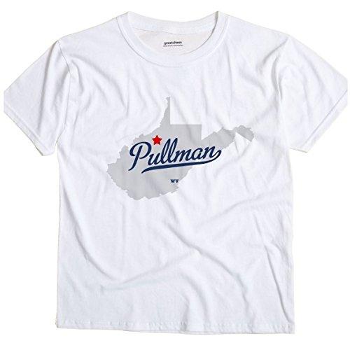 Pullman West Virginia WV MAP GreatCitees Unisex Souvenir T Shirt