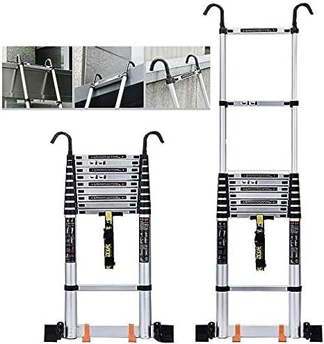 HL-TD Escaleras Extensibles Paso Heces Telescópica Escalera Multiusos Telescópica Escalera Polea Y Alargar La Barra Estabilizadora Heces (Size : 4.7m): Amazon.es: Hogar