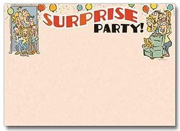 amazon com funny surprise party invitation 12 invitations