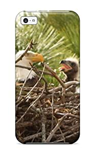 Unique Design Iphone 5c Durable Tpu Case Cover Baby Bald Eagle In Nest Cropped