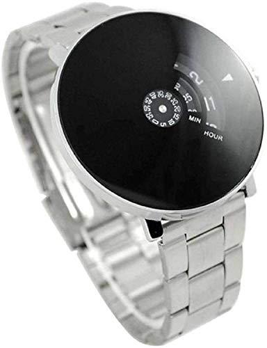 Ivaan Round Analogue Black Dial Men's Wrist Watch