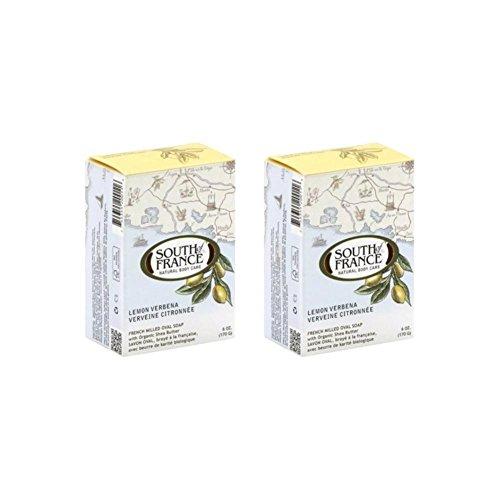 South Of France Natural Bar Soap, Lemon Verbena, 6 Ounce (Pack of (Lemon Verbena Bar)