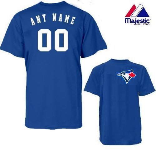 Toronto Blue Jays Personalized Custom (Add Name & Number) ADULT 3XL 100% Cotton T-Shirt Replica Major League Baseball Jersey -