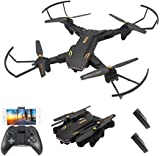 Goolsky VISUO XS809S 2.0MP Wide Angle Camera Wifi FPV Foldable Drone One Key Return Altitude Hold G-sensor Quadcopter w/One Extra Battery
