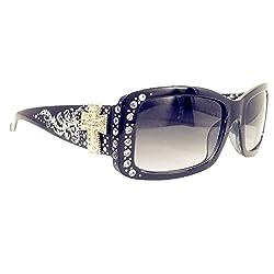 Sunglasses With Rhinestone Multi Concho