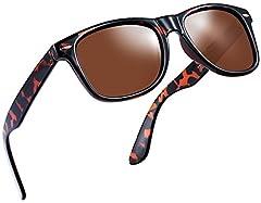 Joopin Polarized Sunglasses for men square sunglasses for womenTAC POLARIZED LENS- Joopin mens sunglasses polarized 100% UV400 protection coating, blocks 100% harmful UVA,UVB& UVC Rays. Restore vivid color, eliminate reflected ligh...