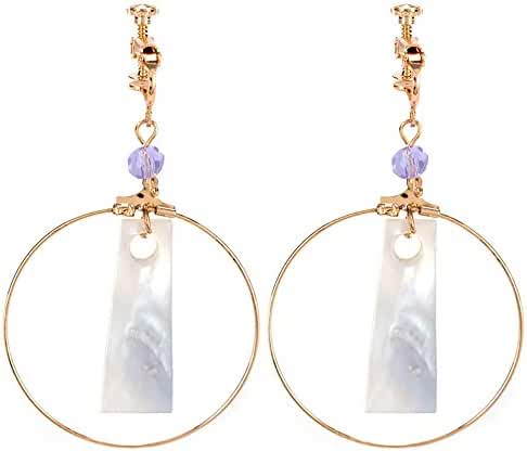 New Trendy Statement Big Circle Geometry Design Ear Clips / Earrings for Women's Accessories