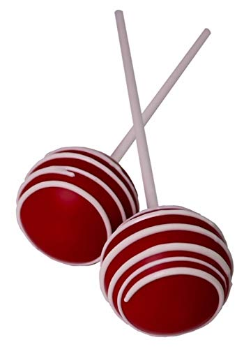 LuluPops by Lina Gourmet Cake Pops - Red Velvet Flavored - 12 Count Fresh Baked Red Velvet Cake Pops Individually Wrapped and Sealed by LuluPops by Lina