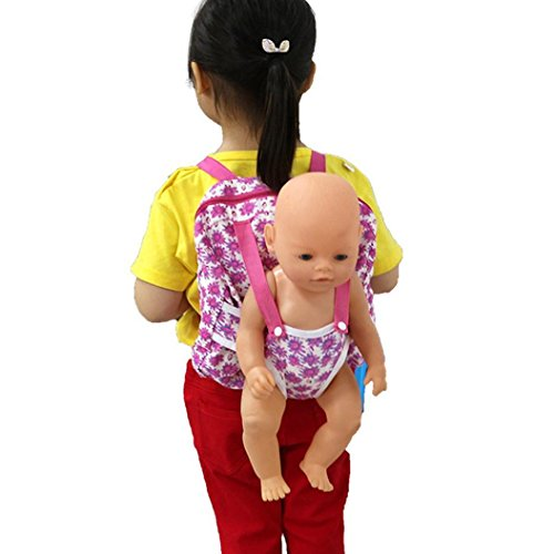 Wensltd Clearance! Baby Doll Carrier Backpack Storage Sleeping Bag Doll Accessories For 18' American Girl Clothes (A)