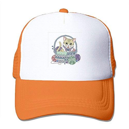 Mens Adjustable Hat Cat In The Basket