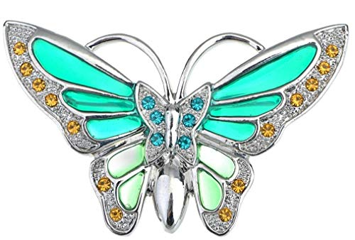 Large Silver White Filigree Butterfly Crystal Rhinestone Brooch Pin Jewelry Pin (Amount - B0973)