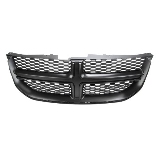 Grille Grill New Painted Dark Gray Black Assembly, 400-172179-GY CH1200340 68100689AA ()