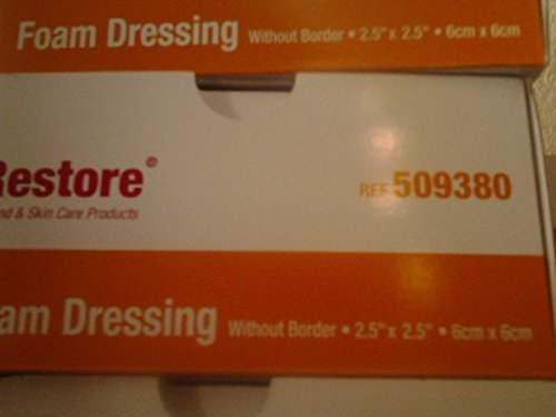 Restore Foam Dressing without Border 2-1/2 x 2-1/2 by Restore