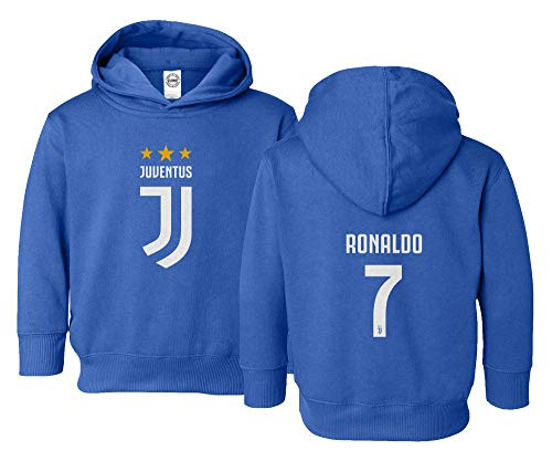 1fff910273c Spark Apparel Soccer Shirt  7 Cristiano Ronaldo Juve CR7 Little Kids Girls  Boys Toddler Hooded